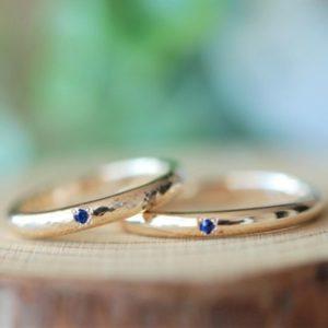 槌目・マット加工・カジュアル・結婚指輪・工房スミス