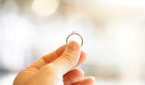 婚約指輪のコーディネート