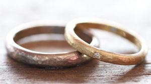 ハンマー仕上げで個性的に♪@手作り結婚指輪 工房スミス札幌店