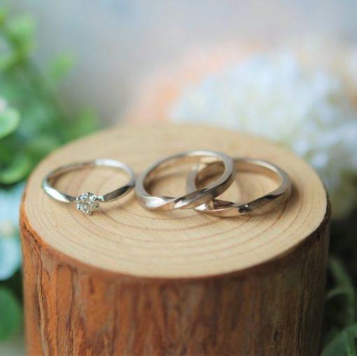 《新潟店》手作り結婚指輪 H様・H様
