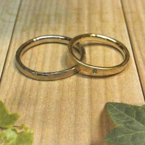 内甲丸の結婚指輪💍
