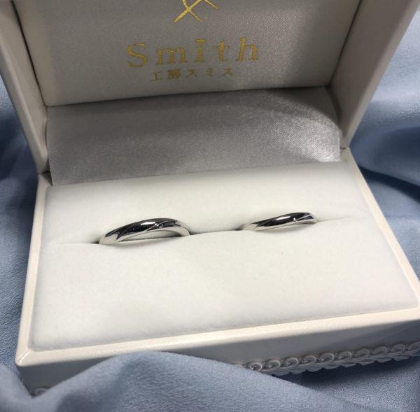 《鎌倉店》手作り結婚指輪 彰吾様・郁様