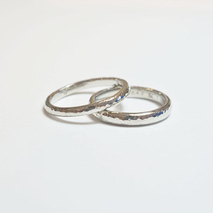 《横浜元町店》手作り結婚指輪 A様