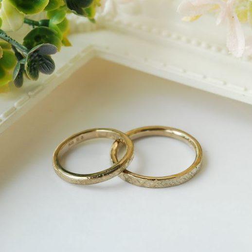 《新潟店》手作り結婚指輪 R様・E様