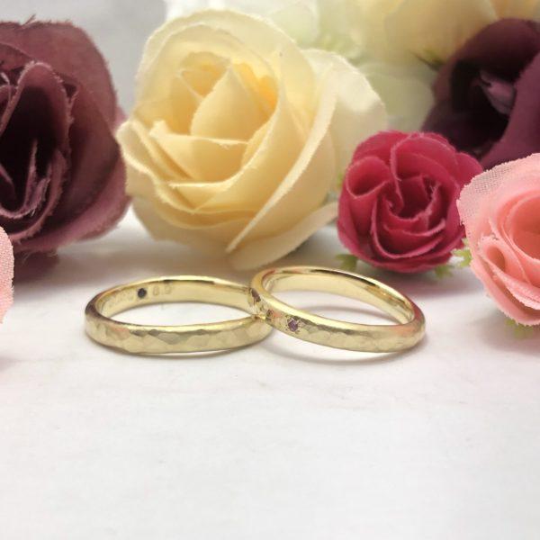 《外苑前店》手作り結婚指輪 R様・R様