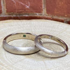 キラッと輝くダイヤモンドポインター@手作り結婚指輪 工房スミス札幌店