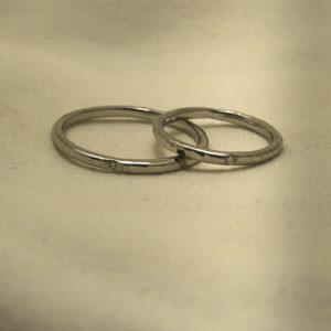 《外苑前店》手作り結婚指輪 J様・J様