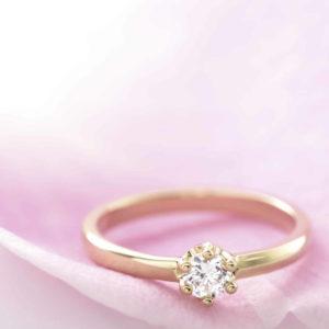 カジュアル色のエンゲージリング@手作り結婚指輪 工房スミス札幌店
