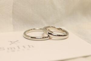 定番で王道のデザイン@手作り結婚指輪 工房スミス札幌店