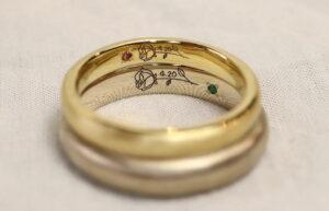 自由性が高い「手書きレーザー刻印」@手作り結婚指輪 工房スミス札幌店