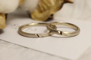 テクスチャーを切り替えてた おしゃれなデザイン@手作り結婚指輪 工房スミス札幌店